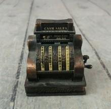 Die Cast Metal Miniature Antique National Cash Register Pencil Sharpener - $9.89