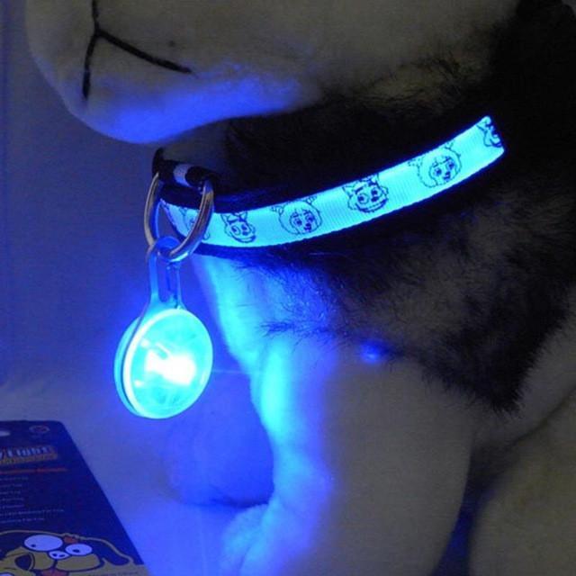 Bright LED Dog Flash Light For Collar Adjustable Harness Chest Safe Flash Light