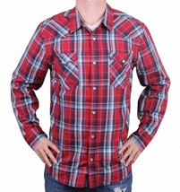 NEW LEVI'S MEN'S CLASSIC COTTON CASUAL BUTTON UP LONG SLEEVE PLAID RED 3LYLW1262