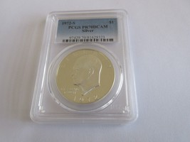 1972-S , Eisenhower , Silver Dollar , PCGS, PR70DCAM - $787.05