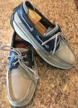 SPERRY TOP-SIDER INTREPID Boat Shoe Navy & Tan Mesh / Leather M'S 8.5 M - $34.47