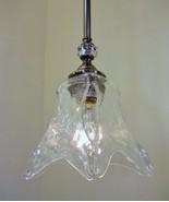 Brushed Nickel Illumina Finish Mini Pendant Light Clear Unique Glass Glo... - $67.72