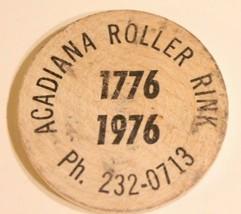Vintage Wooden Nickel Acadiana Roller Rink 1976 - $5.93