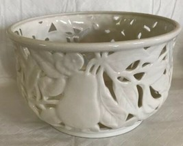 "CHARTER CLUB CLASSICS EDEN DEEP BOWL LATTICE FRUIT DISH CENTERPIECE 8"" I... - $39.60"