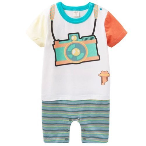 Camera Cool Baby Bodysuit Infant Onesies Toddler One-piece Romper Colorful (90)