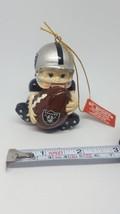 """New W Tag Oakland (Soon Las Vegas) Raiders Football Player Xmas Tree Ornament 3"""" - $23.38"""