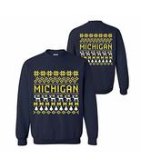 UGP Campus Apparel AW30 - Michigan Wolverines Holiday Ugly Sweater Crewn... - $31.14