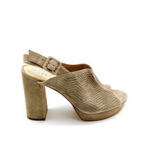 Vince Camuto Womans Jenseya High Heel Platform Sling Back Grey Sandals Sz 8.5 M - $39.59