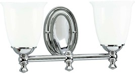 Bathroom Vanity Lighting 16-5/8 in. W 2-Light Down-Up Direction Chrome F... - ₹12,967.24 INR