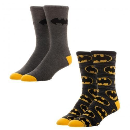 Batman Dc Comics Adult 2 Pack of Crew Socks