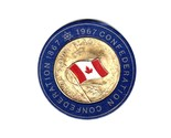 """1967 """"Canada's Own Flag"""" Gold Plated Centennial Commemorative Coin"""