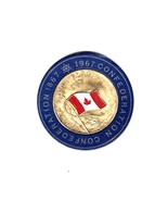 """1967 """"Canada's Own Flag"""" Gold Plated Centennial Commemorative Coin - $25.00"""