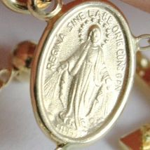 Yellow gold Necklace Rosary 750 18k Miraculous Medal Cross 63 cm Made in Italy image 5