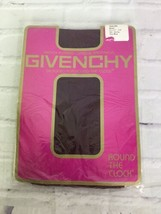 VTG Givenchy Round The Clock 392 Opaque Nylon Pantyhose Hosiery Fine Win... - $24.74
