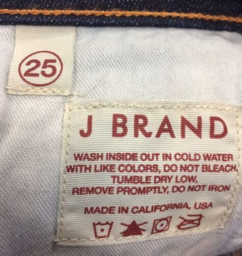Anthropologie Women's J BRAND Jeans Dark Wash Boot Stretch Mint Long Size 25 image 8