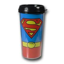 Superman Costume Plastic Travel Mug Blue - $17.98