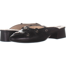 Cole Haan Laree Slide Pointed Toe Slip On Sandals, Floral Black Leather ... - $40.31
