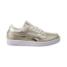 Reebok Club C Revenge Big Kids' Shoes Gold Metallic-Chalk-White FX2532 - $40.20