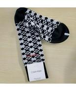 Black White Geo One Pair Designer Calvin Klein Men's Dress Socks - $11.30