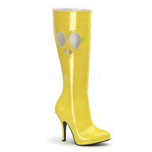 "FUNTASMA Love-270 Series 4 1/2"" Heel Knee-High Boots - Yellow Patent - $32.95"