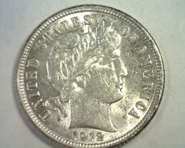 1912 BARBER DIME CHOICE ABOUT UNCIRCULATED+ CH AU+ NICE ORIGINAL COIN BO... - $100.00