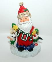"Happy Joyful Santa Claus Figurine Hand Painted Ceramic 4"" - $2.95"