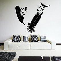 ( 35'' x 32'') Vinyl Wall Decal of Bird's Feathers, Bird Plume / Eagle N... - $38.00