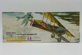 1963 Aurora 1/4 inch Scale WWI Breguet 14 Airplane Model Kit **Factory S... - $98.88