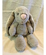 Kellytoy plush gray bunny rabbit baby toy stuffed crinkle crinkly stripe... - $39.59