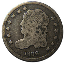 1836 Capped Bust Half Dime 5¢ Coin Lot# A 2035