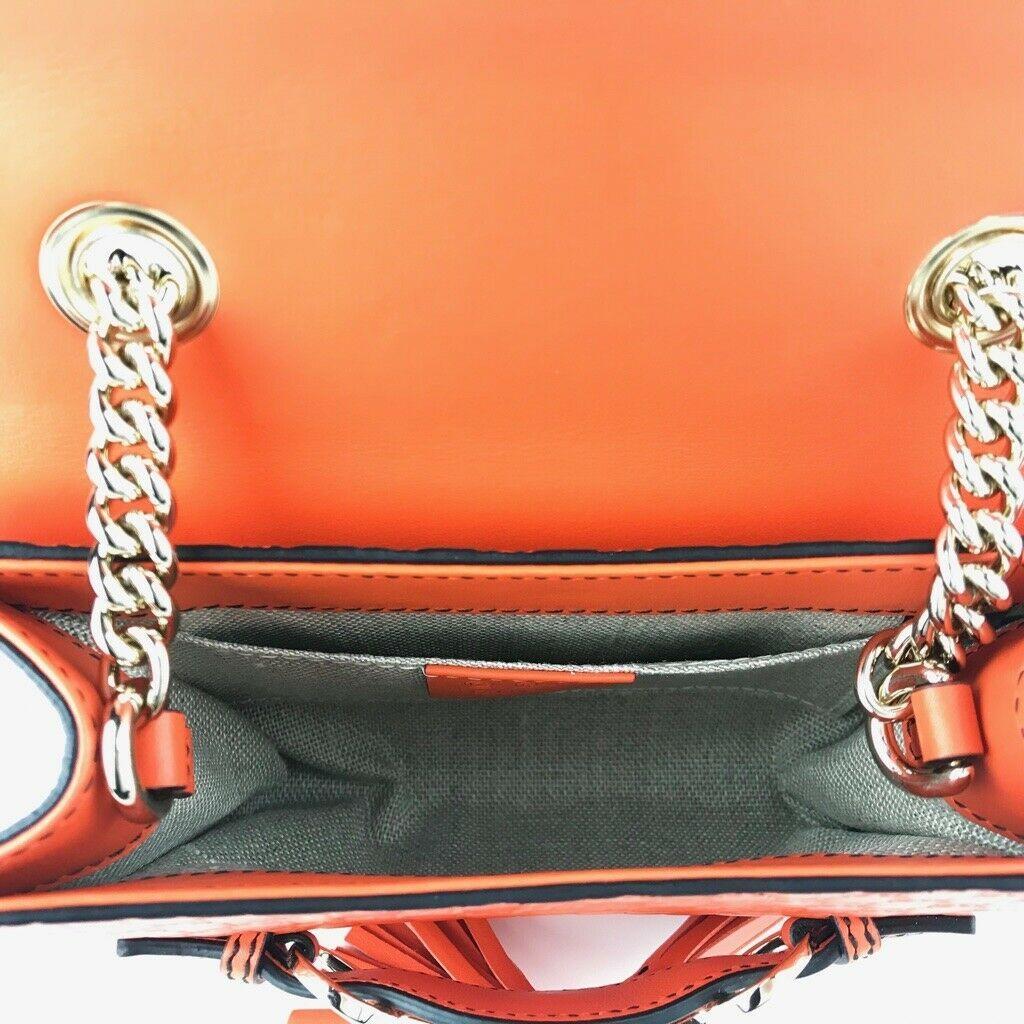 NWT GUCCI 449636 Emily Mini Microguccissima Leather Shoulder Bag, Orange