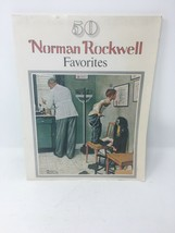 50 Norman Rockwell Favorites Art Book Coffee Table Americana - $16.65