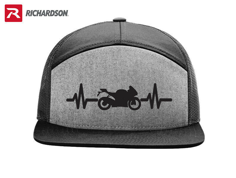 Primary image for BIKE MOTORCYCLE HEARTBEAT  RICHARDSON FLAT BILL SNAPBACK HAT *FREE SHIPPING BOX*
