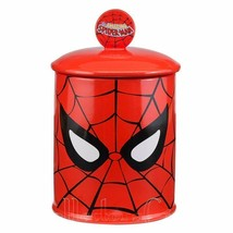 Marvel Comics Spider-man Ceramic Cookie Jar Red Vandor Kitchen Collectible - $69.99