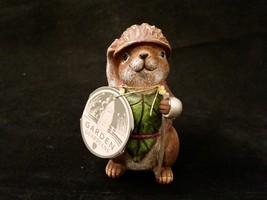 Department 56 Garden Guardians Chester the Chipmunk w Walnut Helmet Twig Spear image 2