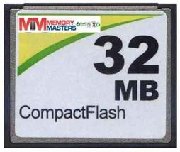 MemoryMasters 32MB CompactFlash Card - Standard Speed (p/n CF-32MB) - $6.77