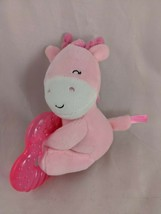 "Carters Pink Giraffe Teether Plush 5"" Stuffed Animal Toy - $7.95"