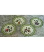 4 Andrea by Sadek WINTERTHUR ADAPTATION Salad Dessert Plates Pear Peach ... - $46.00