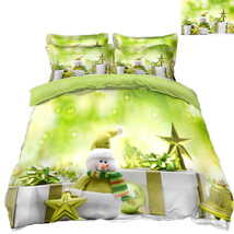 3D Christmas  Xmas 3413 Bed Pillowcases Quilt Duvet Cover Set Single Queen King - $64.32+