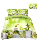 3D Christmas  Xmas 3413 Bed Pillowcases Quilt Duvet Cover Set Single Que... - $64.32+