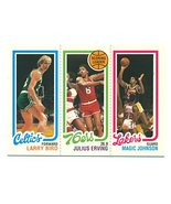 1996 Topps Stars Reprint Larry Bird Julius Erving Magic Johnson 1980-81 ... - $44.55
