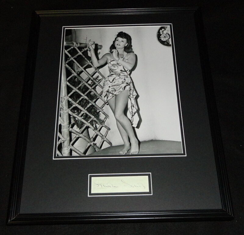Simone Simon Signed Framed 16x20 Photo Display JSA Curse of the Cat People