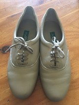 8.5 B Vintage Easy Spirit Motion Wheat Leather Tan Low Heel Lace Up Shoes Womens - $16.82