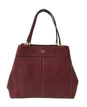 Coach F57545 Lexy Pebble Leather Shoulder Bag (IM/Wine) - $335.61