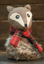 Country FOX SITTER DOLL Stuffed Woodland Creature Winter Christmas Holiday - $39.99