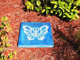 "Butterfly Stepping Stone Concrete Mold 18x18x2"" Make for $3 Each Ships Fast Free image 5"