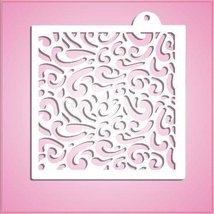 cheapcookiecutters Swirly Lines Pattern Stencil-One Piece Only - $9.41