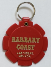 "Barbary Coast Hotel & Casino, Las Vegas souvenir 2-1/4"" Red keychain - $5.95"