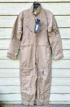 Nwt Genuine Us Air Force Tan Nomex Fire Resistant Flight Suit CWU-27/P - 42L. - $123.75
