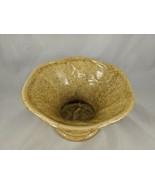 "Haeger Ceramic Planter Speckled Gold Yellow 4.5"" Tall 8"" Diameter - $19.30"